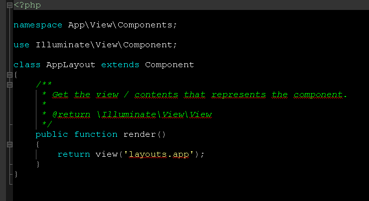 Componente appLayout usado por la plantilla app